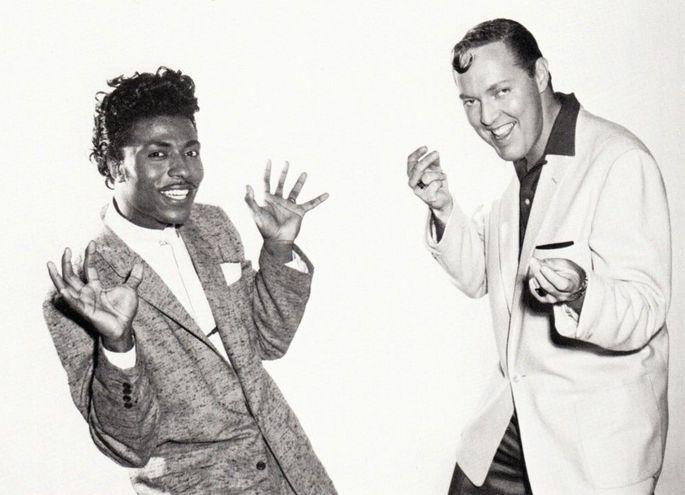 Little Richard con Gene Vincent, 1959.
