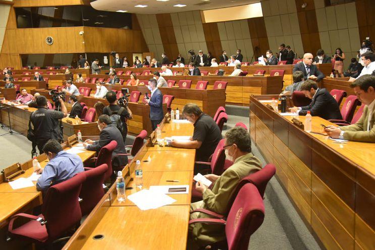 Sesión de la Cámara de Diputados, hoy, miércoles 25 de marzo.