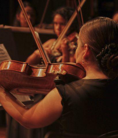 La Orquesta de Cámara Juvenil del CCPA.