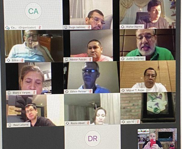 Imagen de la reunión virtual  de la Bancada A,  que posteó en redes el  diputado Basilio Núñez.