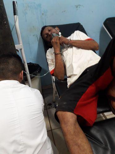 El interno recién hoy fue auxiliado por personal de la sanidad de la cárcel.