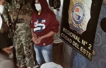 """Claudio Ozuna (36), conocido como """"Rapidito"""", fue detenido este martes con dosis de crack."""