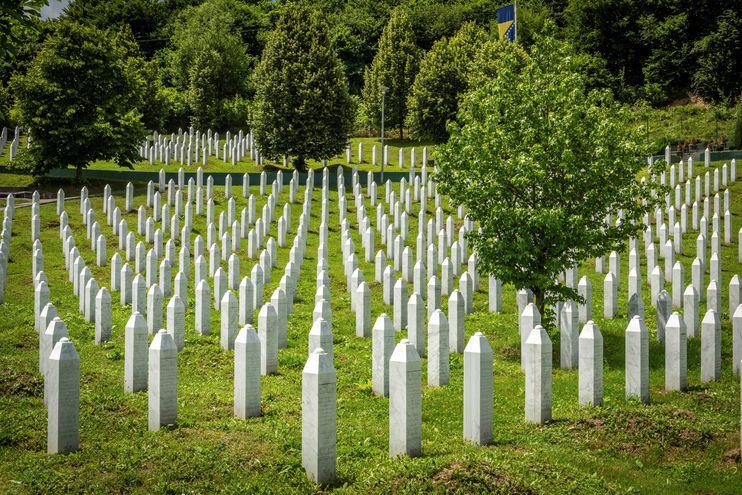 Centro Memorial de Potocari en Srebrenica.