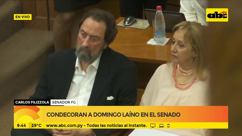 Condecoran a Domingo Laíno en el Senado