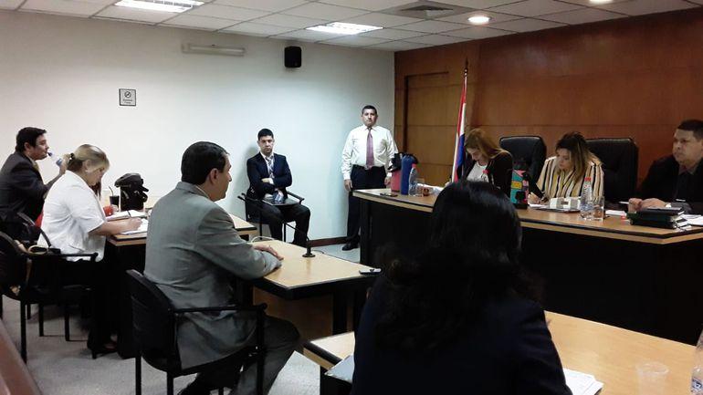 Expresidente Federico Franco declarando en el juicio de Enrique Salyn Buzarquis.