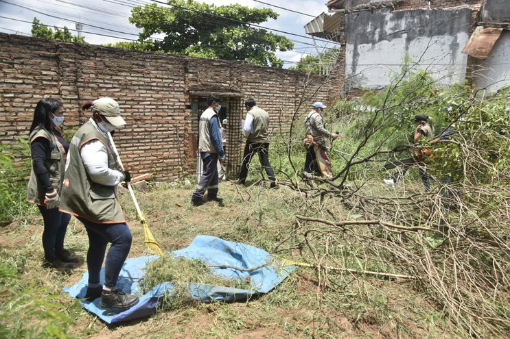 Mingas de limpieza por baldíos sucios y aumento de notificaciones de dengue.