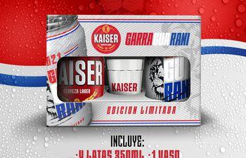 """""""Garra Guaraní"""" es la edición limitada de la cerveza Kaiser."""