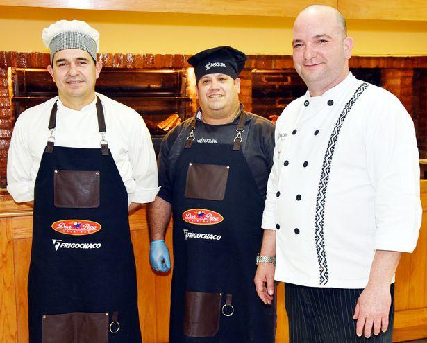 Jorge Sosa, Arnaldo Vidallet y José Matos.