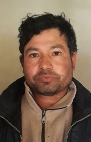 Robert Viveros González, detenido por la policía.