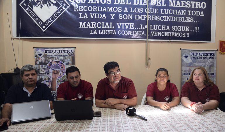 """Dirigentes de al Otep Auténtica anunciaron el inicio """"parcial"""" de las clases este viernes 21 de febrero."""
