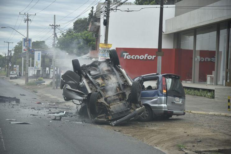 Accidente frente al Asunción Golf Club.