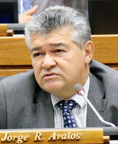 El diputado Jorge Ávalos Mariño (PLRA, efrainista). Es titular de la Comisión de Legislación de la Cámara Baja.