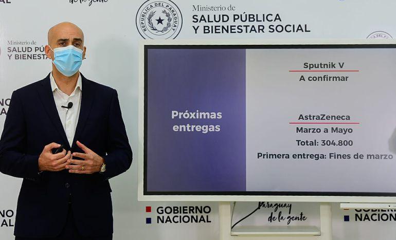 Julio Mazzoleni durante la conferencia de este viernes 26 de febrero.