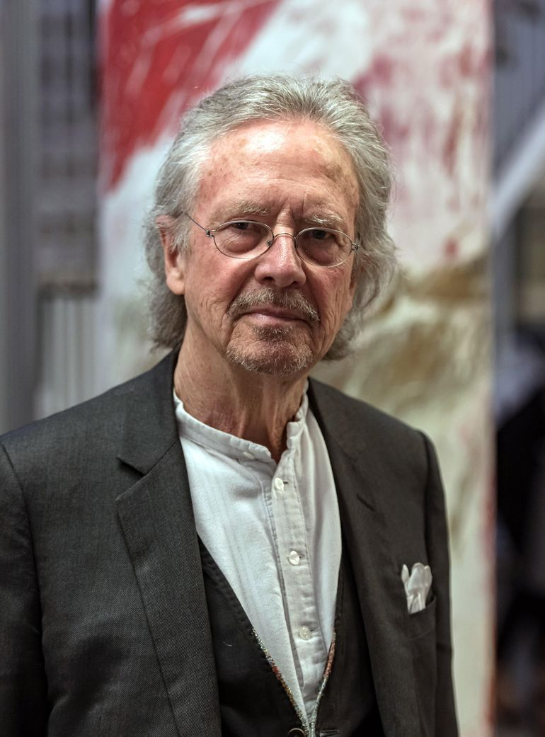 El escritor austriaco Peter Handke ganador del Premio Nobel de Literatura 2019.