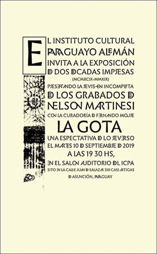 Invitación de la muestra de Nelson Martinesi que expresa el sentido de la misma.