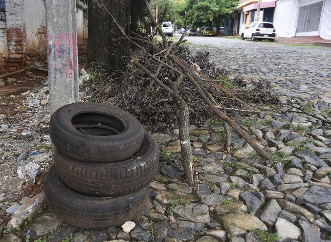 En el departamento Central hay unos 8 millones de neumáticos  sin reciclar y son posibles criaderos de mosquitos.