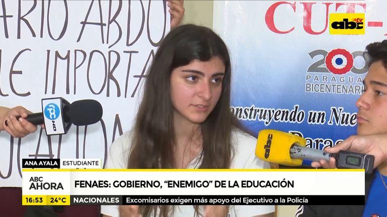 """Fenaes: Gobierno, """"enemigo"""" de la educación"""