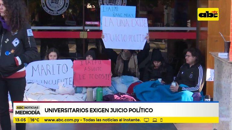 Universitarios también exigen juicio político