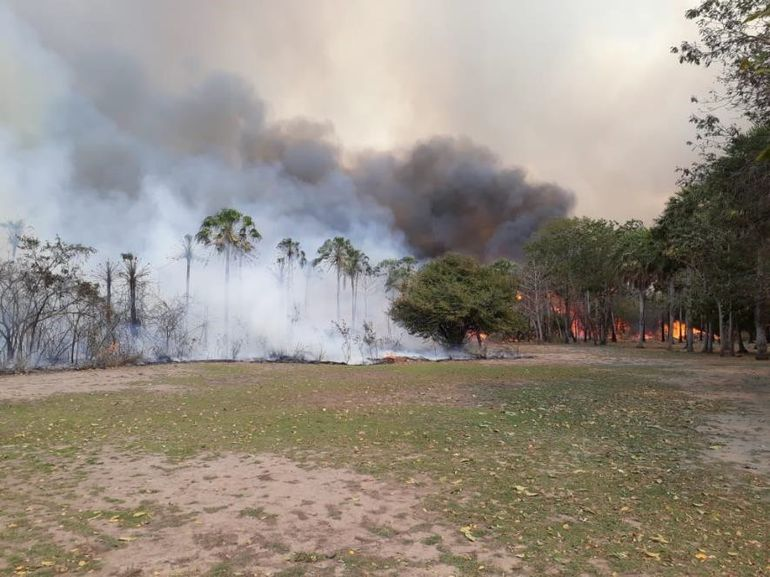 Incendio en el Pantanal.