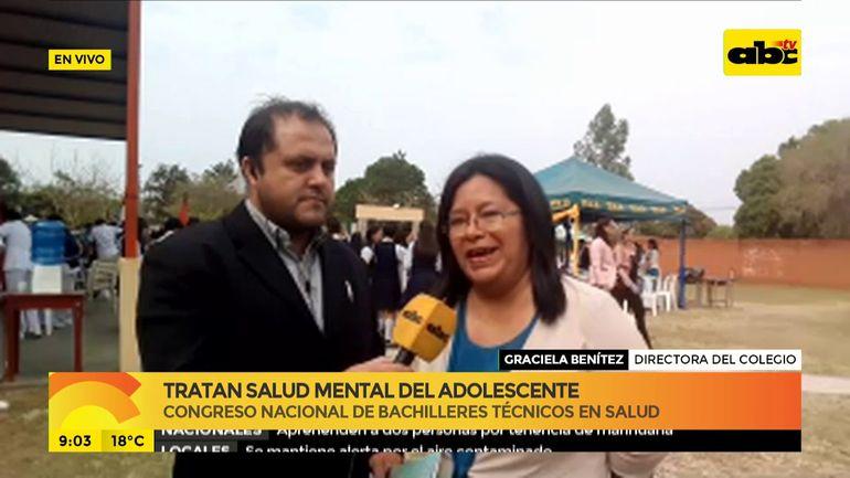 Tratan salud mental del adolescente en Congreso Nacional en San Pedro