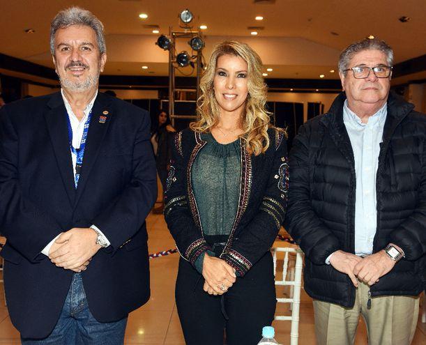 Enrique Duarte, Silvia Franco de Ruiz y Manlio López.