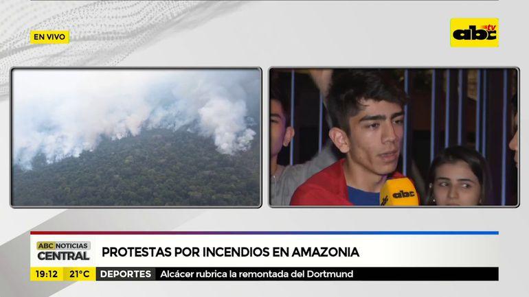 Protestas por incendio en Amazonia