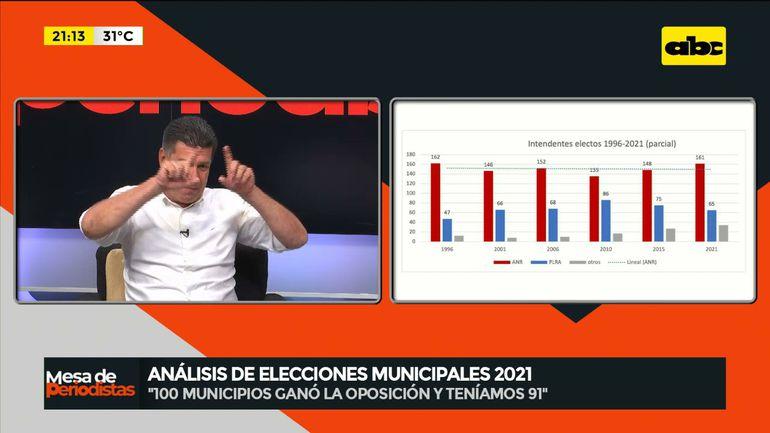"""Efraín Alegre habla sobre las elecciones del pasado domingo 10, durante el programa """"Mesa de periodistas"""", emitido por ABC TV."""
