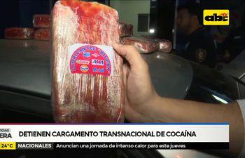 Detienen presunto cargamento transnacional de cocaína