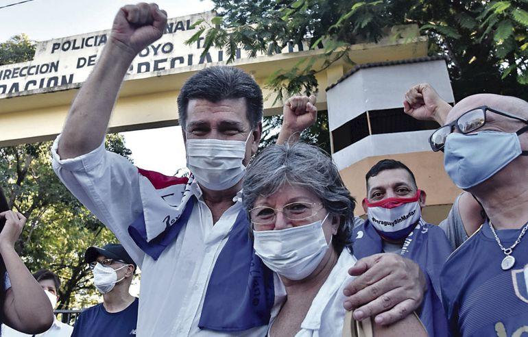 Efraín Alegre estuvo 19 días preso en el cuartel de la Agrupación Especializada.
