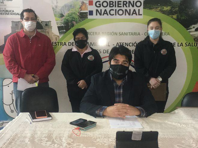 Dr. Eduardo Jara, en conferencia de prensa, cuando informo sobre el caso de Nueva Colombia
