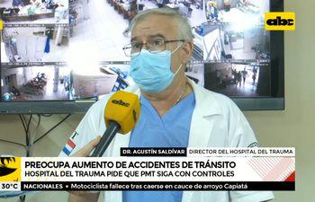 Hospital del Trauma pide que Patrulla Caminera siga con controles de alcotest