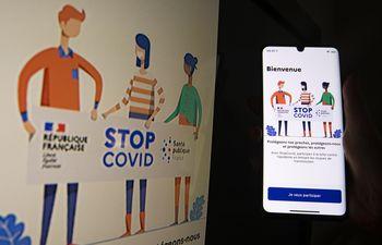 La aplicación para teléfonos móviles StopCOVID, desarrollada para rastrear personas que den positivo al test de coronavirus.