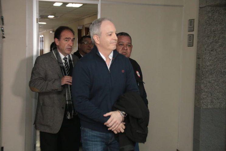 Justo Cárdenas, extitular del Indert, tras dejar Palacio de Justicia hoy.