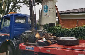 Un tanque de reserva de oxígeno del hospital respiratorio de Encarnación fue trasladado al hospital distrital de Tomás Romero Pereira.