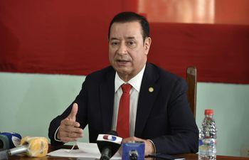Miguel Cuevas en una foto de archivo durante una conferencia de prensa en la Agrupación Especializada, sitio del que salió el 25 de setiembre.