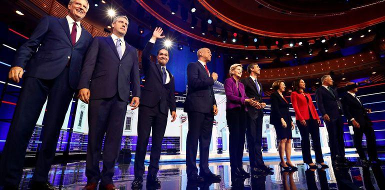 Candidatos demócratas para las elecciones 2020.