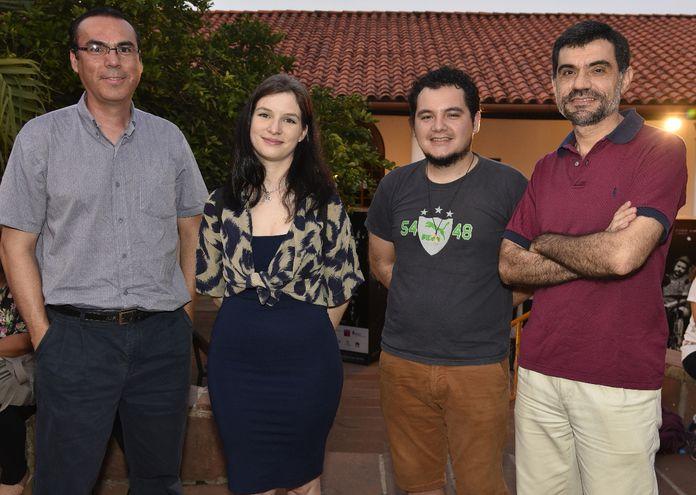 Jorge Ayala, Victoria Bedoya, Santiago Abad y Jorge Benítez.
