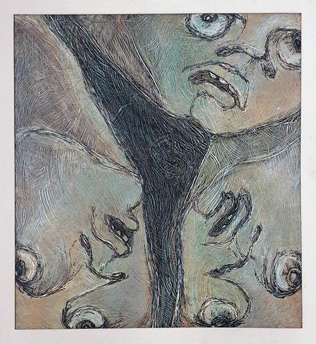 Una de las obras de Olga Blinder que formará parte de la muestra en la galería Exaedro.