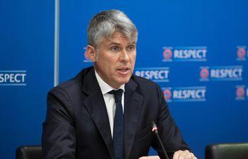 Roberto Rosetti (53 años), director arbitral de la UEFA.