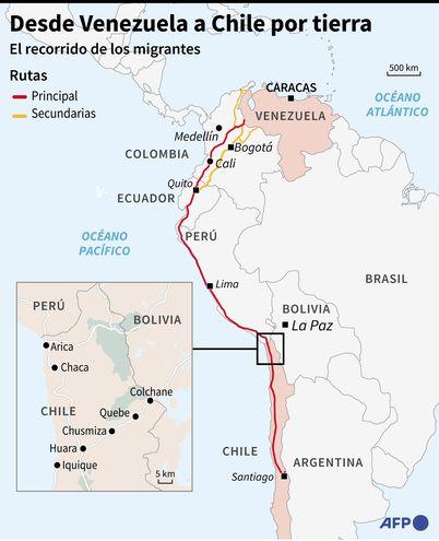 DESDE VENEZUELA A CHILE POR TIERRA