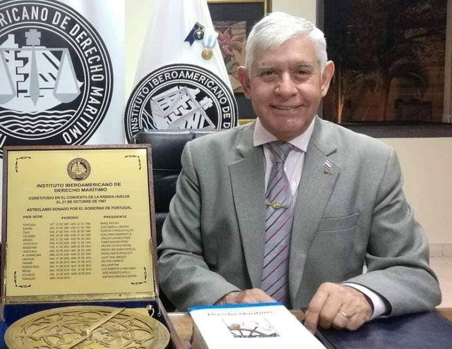 Dr. Santiago Adán Brizuela Servín, presidente del Instituto Iberoamericano de Derecho Marítimo (IIDM), entidad organizadora del congreso, que reunirá a expertos del sector.