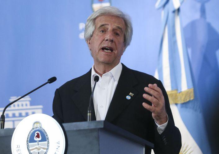 El presidente Uruguay, Tabaré Vázquez.