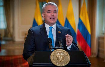 El mandatario colombiano, Iván Duque.