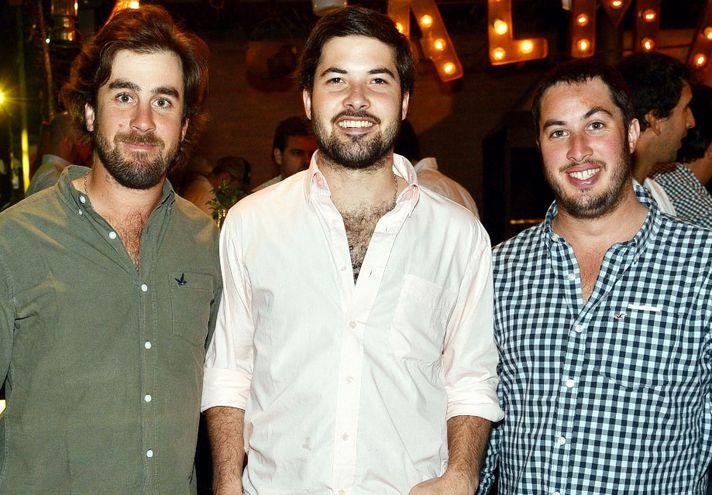 Nico Lanfranco, Santiago de Freitas y Martín Marizcurrena.