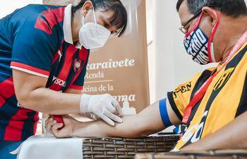 Pese al corto tiempo de difusión, la campaña de donación de sangre en Encarnación tuvo mucho éxito.