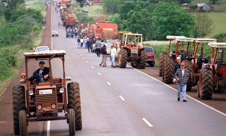 Tractorazo (Foto de archivo).
