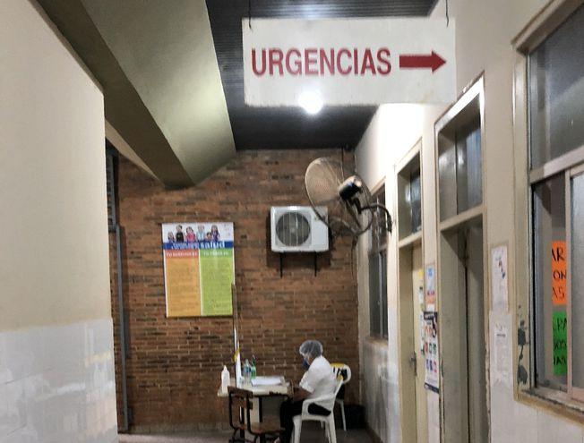 Servicio de urgencias del Hospital Regional de Concepción, donde se evaluó el estado de la mujer que dio positivo.
