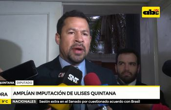Amplian imputación a Ulises Quintana