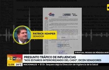 Tibias posturas de senadores ante denuncia de tráfico de influencias del Martín Arévalo
