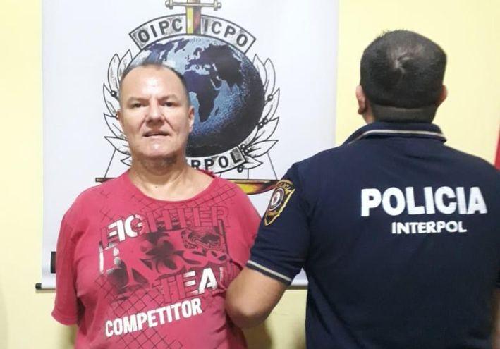El brasileño Narcelio Augusto Menegatti fue detenido ayer en Presidente Franco por  agentes de Interpol que lo rastreaban.